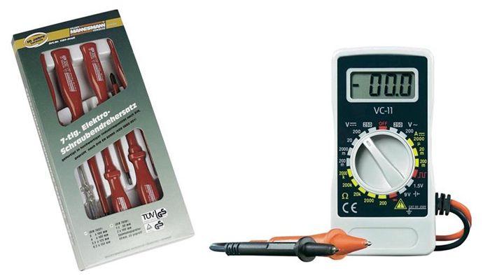 Hand Multimeter + VDE Schraubendreher Satz 7 teilig für 11€ (statt 21€)