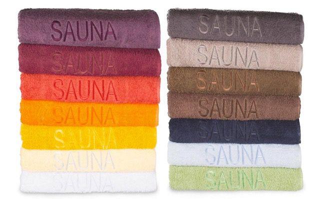 Saunatücher 70x200cm in 13 Farben für je 9,99€
