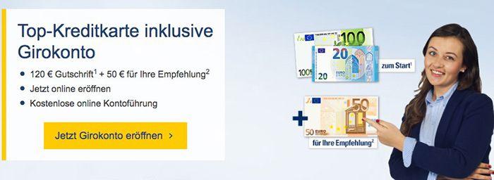 Bildschirmfoto 2016 12 15 um 11.48.59 120€ für gratis Girokontoeröffnung bei der 1822direkt + 50€ für Weiterempfehlung