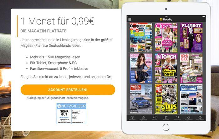Bildschirmfoto 2016 12 23 um 13.16.57 1 Monat Readly Magazin Flatrate für 0,99€ (statt 10€)   Über 1.500 Magazine
