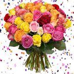 31 bunte Rosen mit 50cm Länge für 20,94€