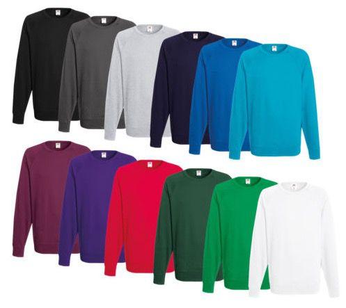 Fruit of the Loom   Herren Sweatshirts (240g) div. Farben für je 8,99€