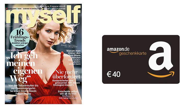 myself im Jahresabo (Digital & Druck) für 42€ + 40€ Amazon Gutschein