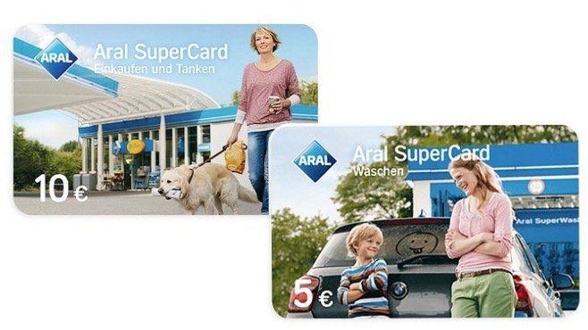 10€ Aral Supercard für 9€ kaufen und 5€ Waschen gratis dazu