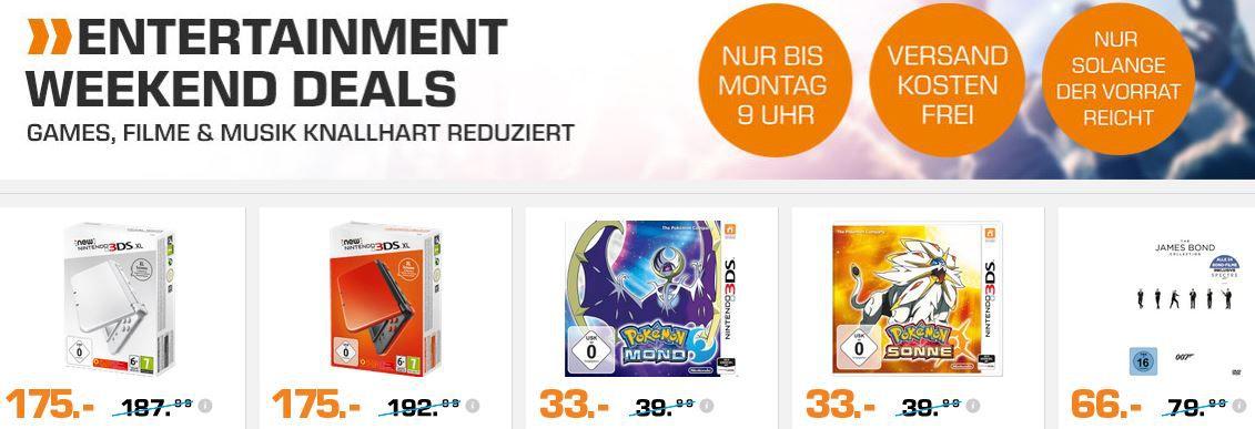 Blond james 3DS XL Blau & Super Mario Maker für 139€ und mehr günstige Angebote im Saturn Weekend Sale