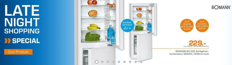 Bomann Kühlschrank BOMANN KG 320   Kühl Gefrier Kombie für nur 229€