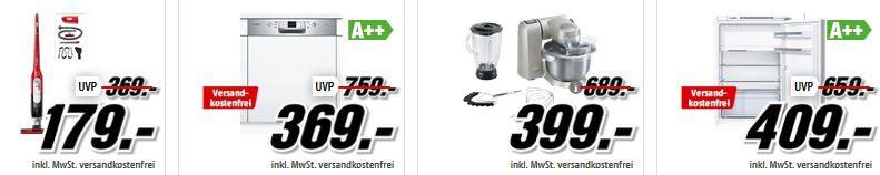 Bos ch Aktio n Media Markt Bosch Tiefpreisspätschicht: günstige Haushaltsgeräte!