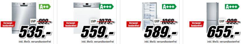 Bosch Großgeräte Media Markt Bosch Tiefpreisspätschicht: günstige Haushaltsgeräte!