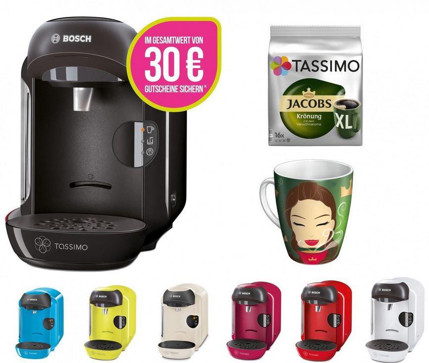 Bosch TASSIMO VIVY angebot Bosch Tassimo Vivy + 30€ Gutschein + Ritzenhoff Sammelbecher + Jacobs TDiscs für 34,99€