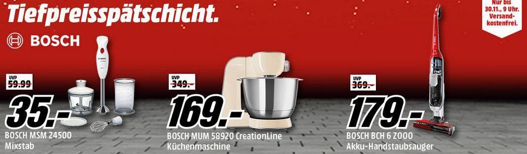 Bosch Tiefpreisspätschicht Media Markt Bosch Tiefpreisspätschicht: günstige Haushaltsgeräte!