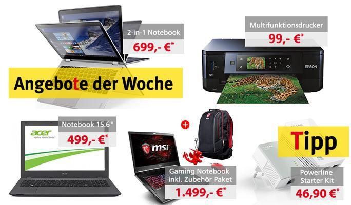 Comtech Angebote der Woche Comtech Comweek Deals – z.B. Lenovo Yoga 2 in 1 Notebook statt 799 für 699€