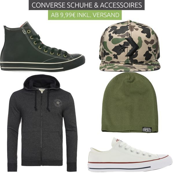 Converse Rausverkauf   Kult Sneaker & Accessoire ab 9,99€   z.B. Converse Chucks All Star ab 29,99€