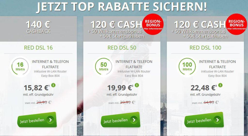 Vodafone DSL mit Festnetzflat schon ab 15,82€ mtl.