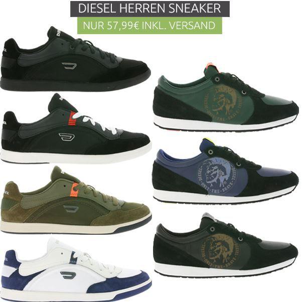 DIESEL A HEAD Herren Sneaker div. Farben für je 57,99€
