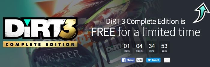 Dirt 3 Complete Edition (Steam Key) kostenlos