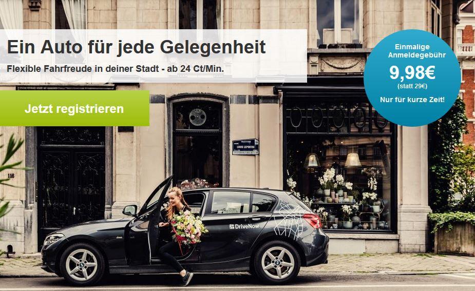 Drive Now cyber angebot Drive Now   für Neukunden statt 29€ für 9,80€