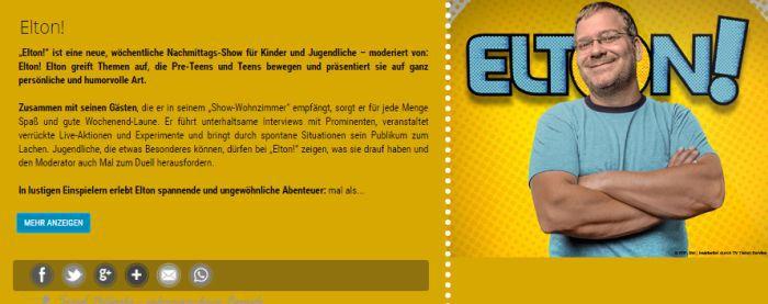 """Nur für 10 18 jährige: Freikarten für """"Elton!"""" im November"""