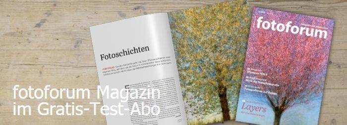 Fotoforum Banner 2 Ausgaben Fotoforum Magazin gratis testen – Kündigung notwendig