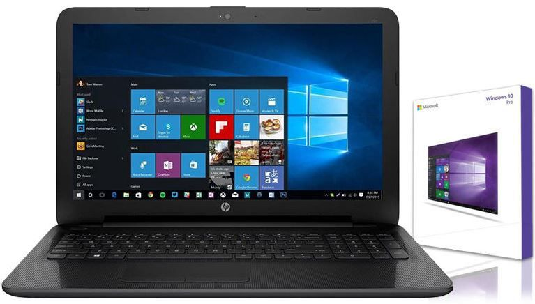 HP Notebook 156 Zoll Quad Core 4 x 180 GHz HP Notebook 15,6 Zoll mit 1TB HDD &  Windows 10 Pro für 245€