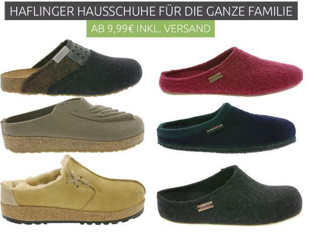 Haflinger Hausschuhe für Damen, Herren und Kinder ab 4,99€