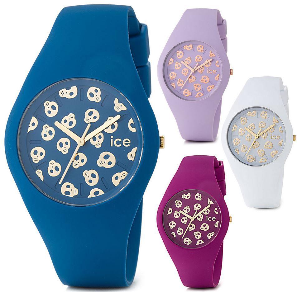 ICE SKULL Uhren Ice Skull Watch   Unisex Armbanduhr mit Silikonarmband für 39,99€