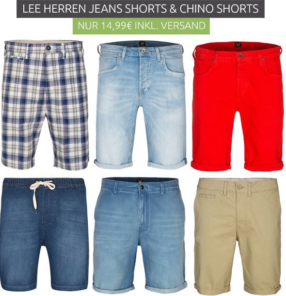 Lee Jeans & Chino Shorts ab 14,99€