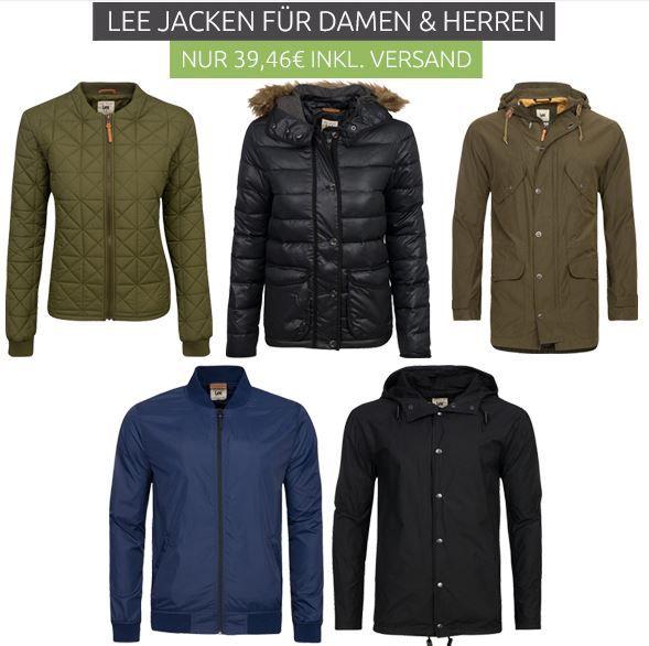Lee Jacken Sale Lee Jacken Sale bei Outlet 46   z.B. Lee Quilted Herren Steppjacke für nur 39,46€