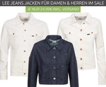 Lee Jacken Sale bei Outlet 46   z.B. Lee Rider Jacken für nur 24,99€