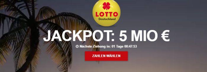 5 Lotto Felder und 5 Rubbellose geschenkt (Neukunden)