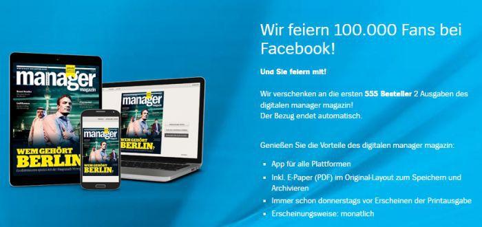 Manager Magazin Banner 2 Ausgaben Manager Magazin (digital) gratis – endet automatisch