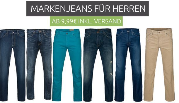 Markenjeans Jeans & Hosen Ausverkauf @Outlet46: Lee Hosen schon ab 7,99€
