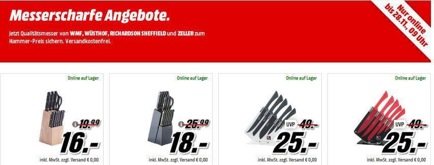 Media Markt Messerscharfe Angbeote Messerscharfe Angebote bei Media Markt: z.B. Messerblock mit Messern für nur 16€