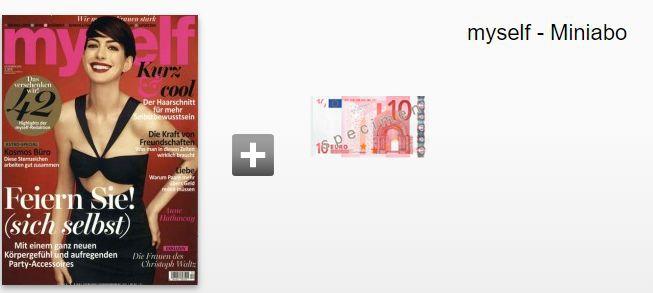 Myself Miniabo für 10,20€ + 10€ Gutschein