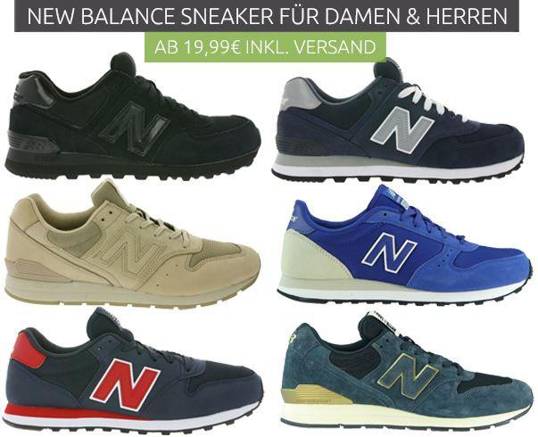 NB Sneaker New Balance Sale für Damen und Herren @Outlet46 günstige Sneaker ab 19,99€