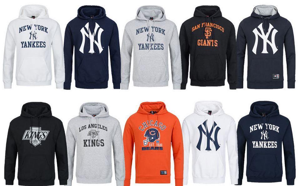 Majestic Athletic Herren Hoodies: NFL, NHL, MLB [Größe S L] für je 20,99€