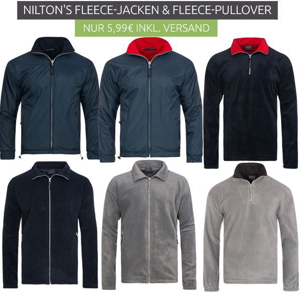 Nilton´s NILTONS Reversible Fleece Herren Jacken ab 5,99€