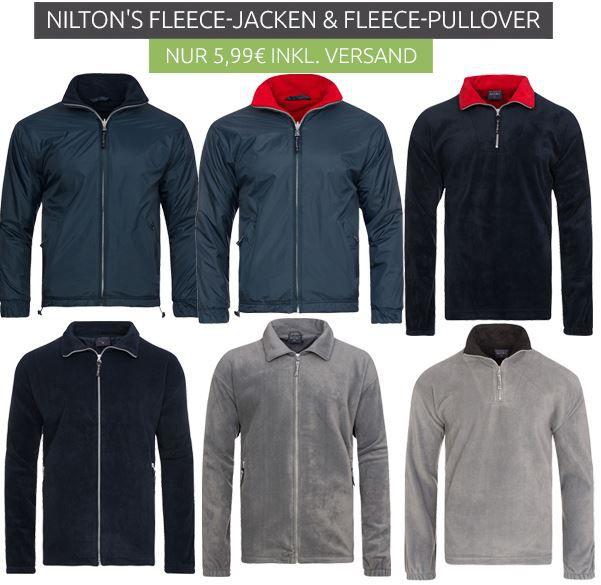 NILTONS Reversible Fleece Herren Jacken ab 5,99€
