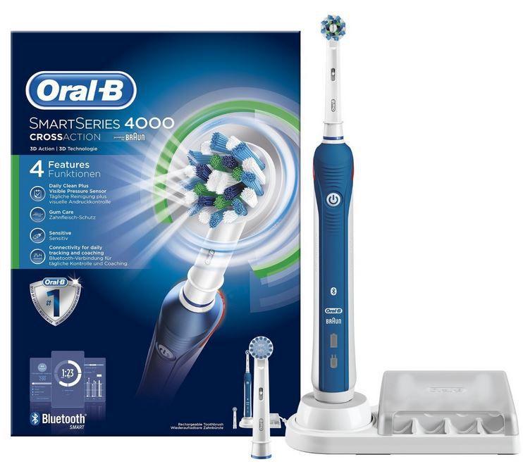 Oral B SmartSeries 4000 CrossAction Oral B SmartSeries 4000 CrossAction Zahnbürste für 51,30€ (statt 67€)