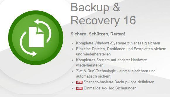 Paragon Backup & Recovery 16 kostenlos   nur für kurze Zeit