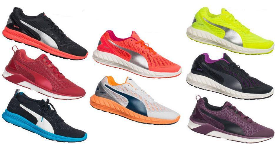 Puma Ingnite Unisex Sneaker PUMA Ignite   Unisex Lauf  u. Trainingsschuhe für je 34,99€