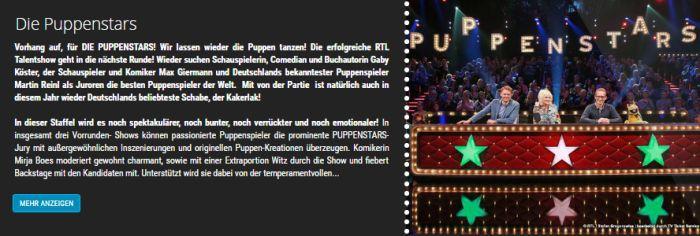 """Freikarten für """"Puppenstars"""" am 18. und 23. November in Köln"""