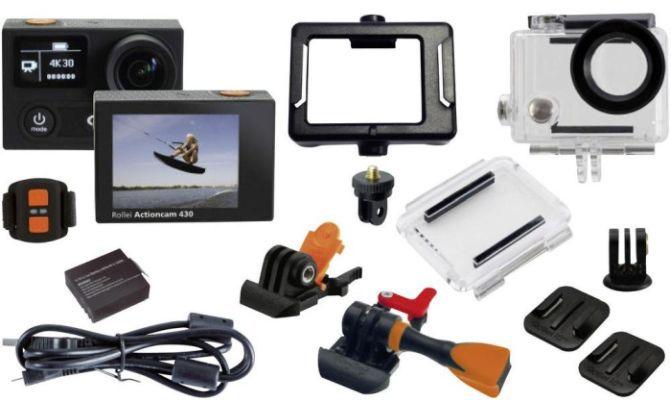 Rollei 430 Komplettset Rollei 430 4k Actioncam für nur 149,95€ (statt 225€)