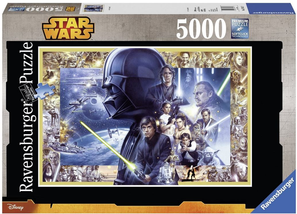 Rvensburger 5000 Teile Puzzle Star Wars Ravensburger   Star Wars I VI Puzzle mit 5000 Teilen (statt 34€) ab 25€