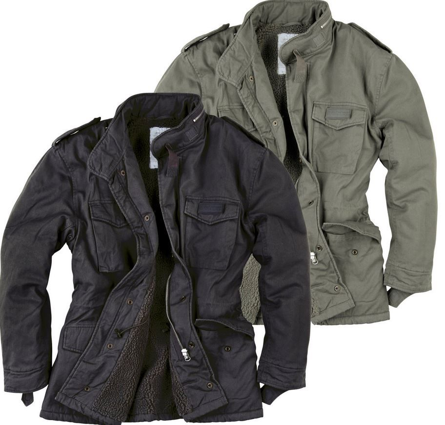 SURPLUS RAW Vintage M65   Herren Paratrooper Winter Feldjacke bis 5XL für 49,90€