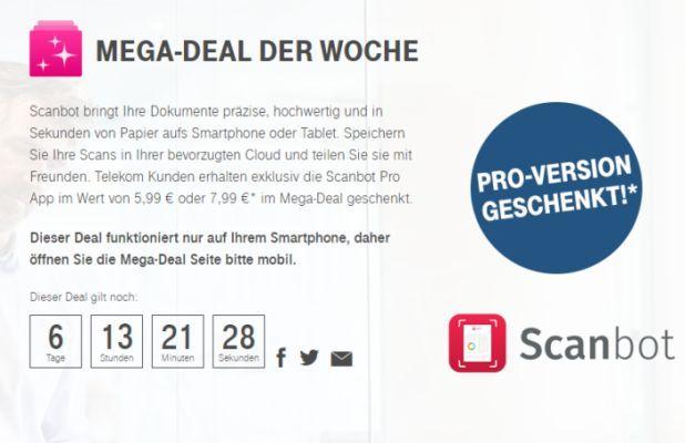 Scanbot Nur für Telekom Kunden: Scanbot Pro (Android/iOS) gratis