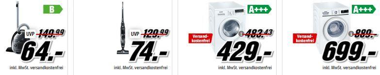 Siemens A kTion MM Media Markt Bosch Tiefpreisspätschicht: günstige Haushaltsgeräte!