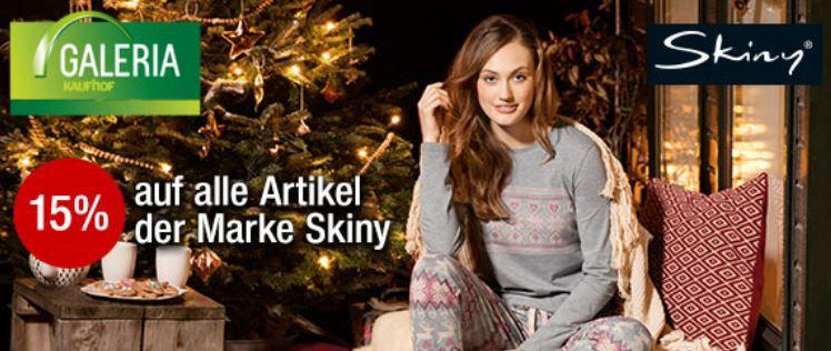 Skiny Galeria Kaufhof mit 15% Rabatt auf die Marke Skiny   BH über Slips und Pants günstig
