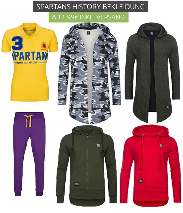 Spartans History Sale Outlet Spartans History Ausverkauf bei Outlet46   z.B. Shirts ab 1,99€