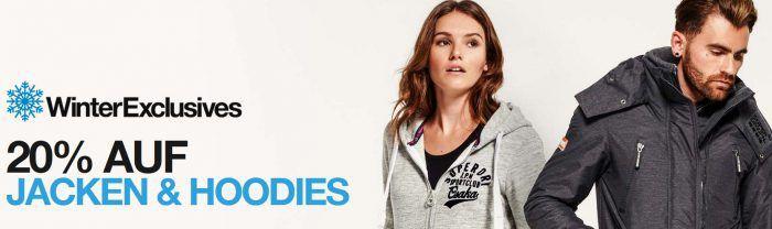 Superdry Banner 20% Rabatt auf Jacken und Hoodies bei Superdry