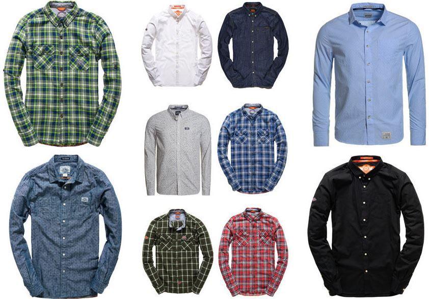 Superdry CK Herren Hemden Superdry Herren Hemden   neue Modelle für je 24,95€